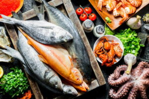 Listado de pescados o mariscos para combatir la anemia